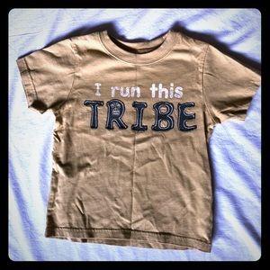 """I run this tribe"" Khaki color for boys!"
